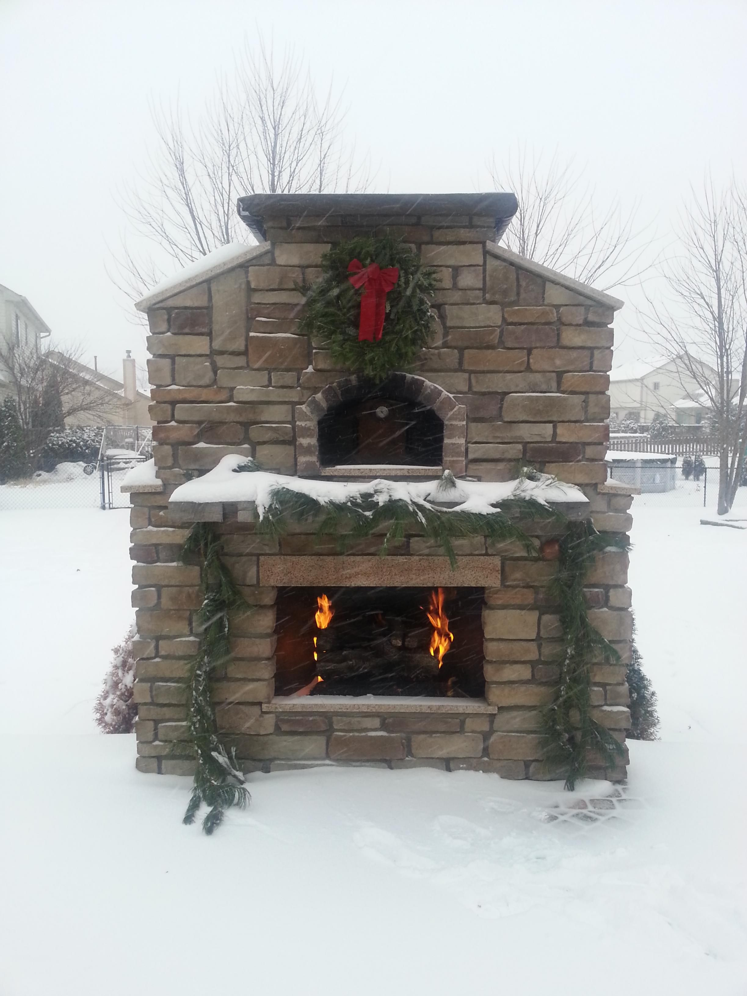 brick pizza oven u0026 outdoor fireplace phoenix desert crest llc