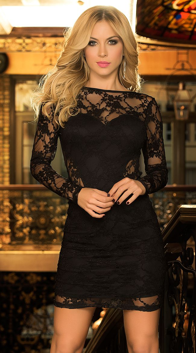 Holiday long sleeve lace dresses