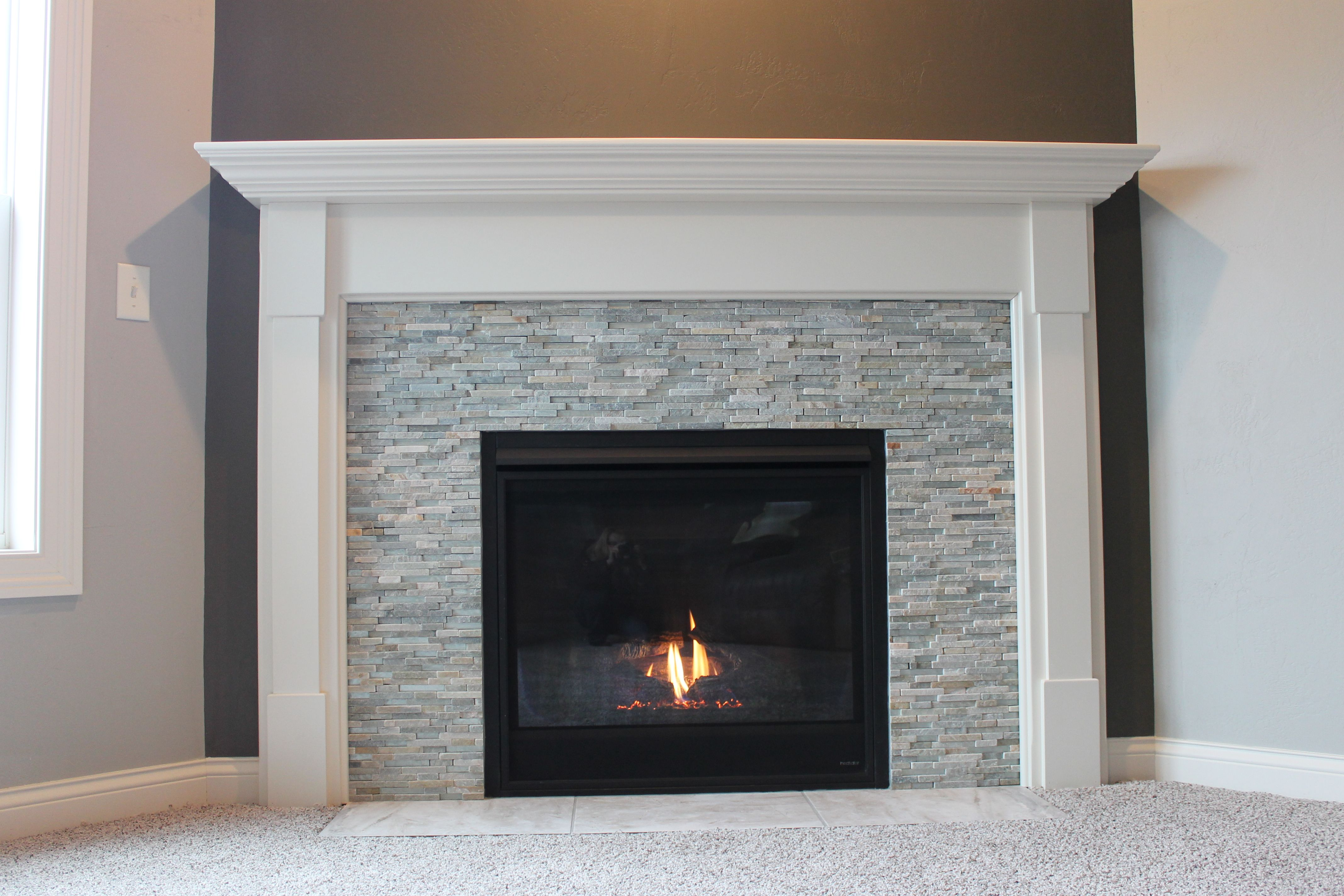 Superbe Stylish Tile Options For Your Fireplace Surround #fireplace #tile #ideas