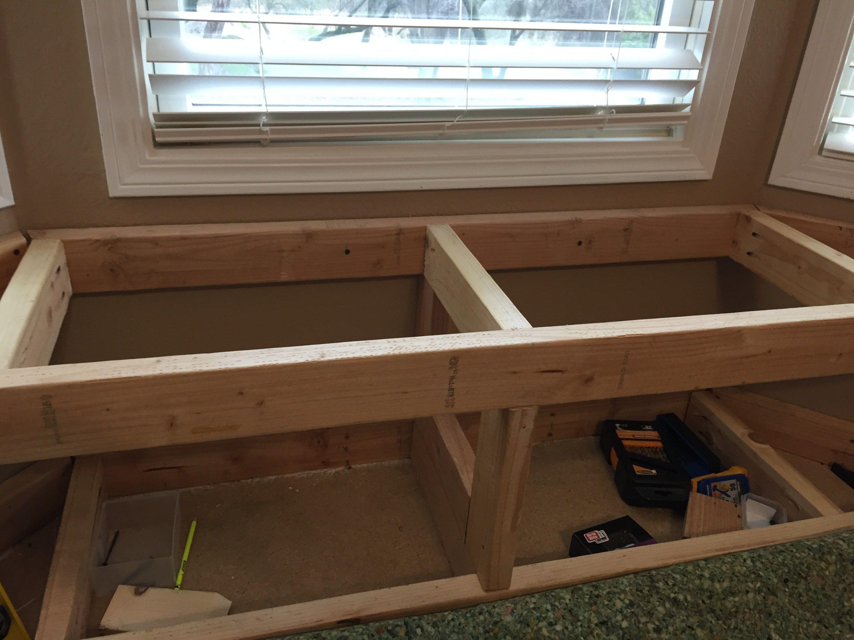 Diy Built In Window Seat With Storage Window Seat Storage