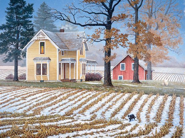 A Touch Of White  JohnSloaneArt.com - John Sloane - Gallery - Down on the Farm ~j