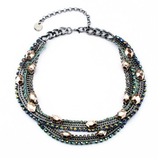 Fashion  accessories vintage double layer crystal all-match female necklace