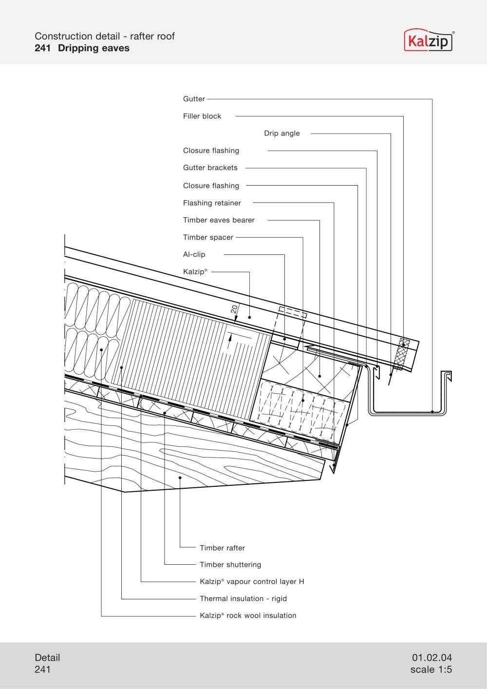 Kalzip construction details architecture building for Roof decking thickness