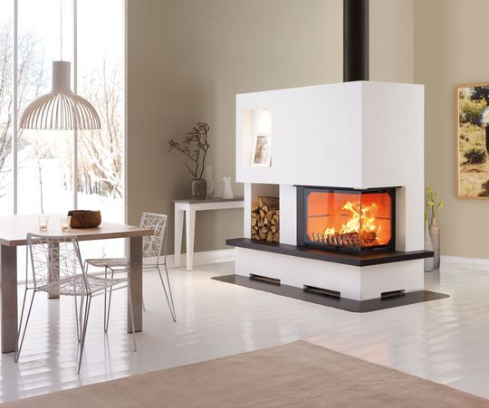 20 mod les de chemin e ou po le bois. Black Bedroom Furniture Sets. Home Design Ideas