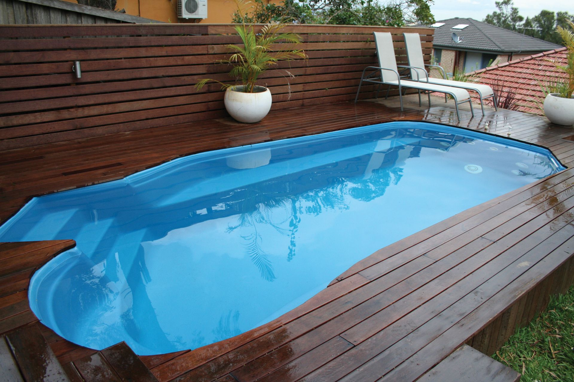 4.7m Plunge Pool Midnight Shimmer | Barrier Reef Pools Perth | backyard |  Pinterest | Plunge pool, Hot tubs and Tubs