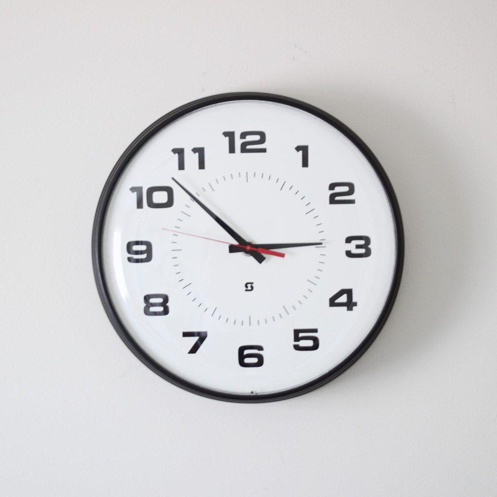 Home Goods Clocks: Large Simplex School Wall Clock. $127.00, Via Etsy. (love