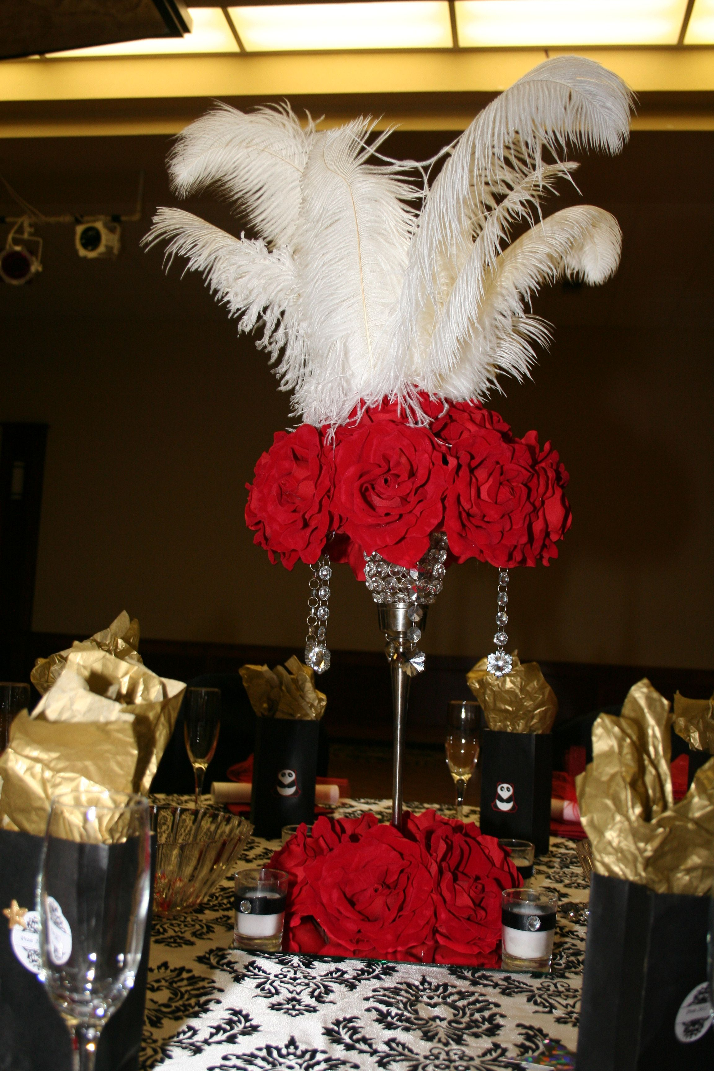 Option 7 Using The Candelabras For The Height We Can Do Flowers At The Top With Feathers Or