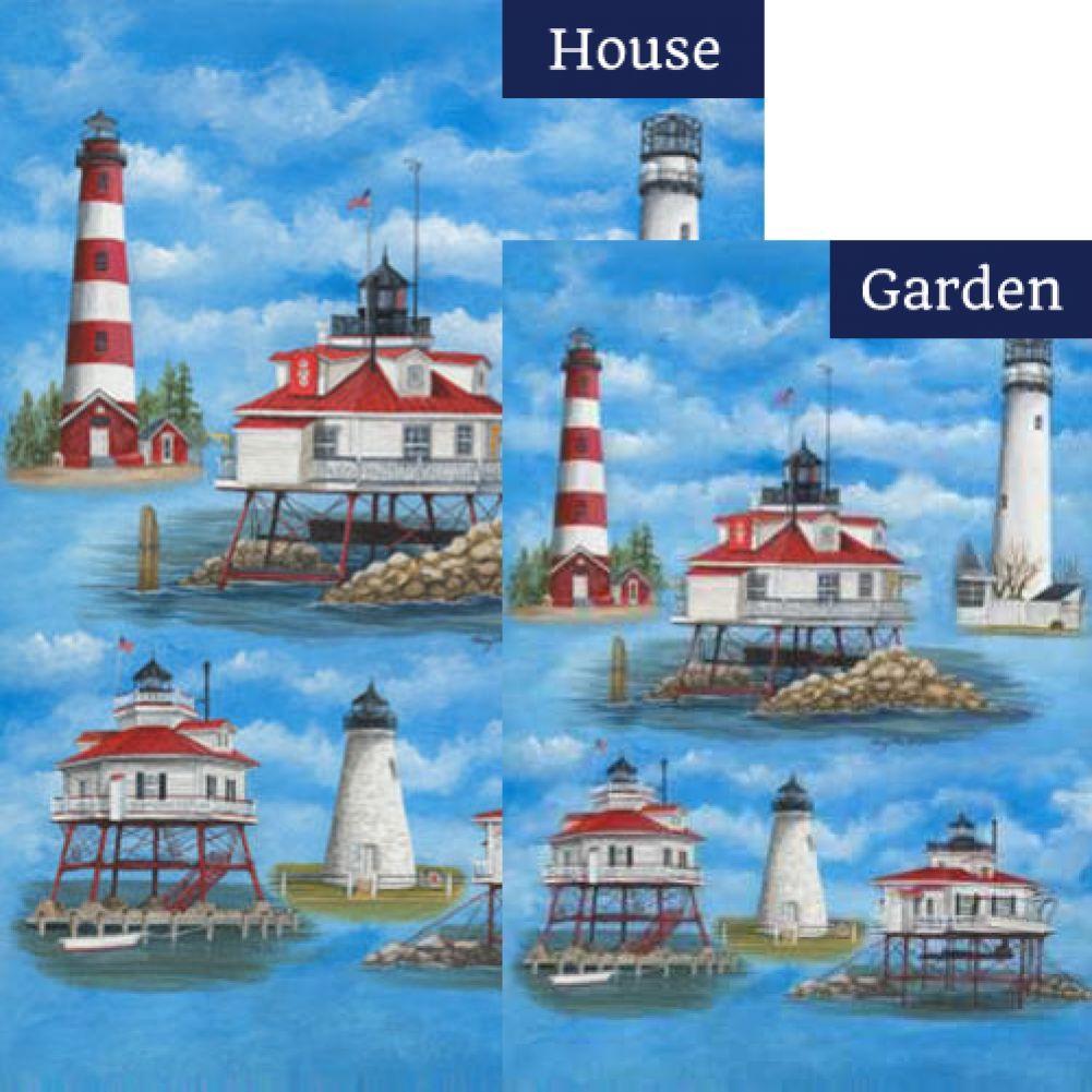 DelMarVa Lighthouse Flags Set (2 Pieces)