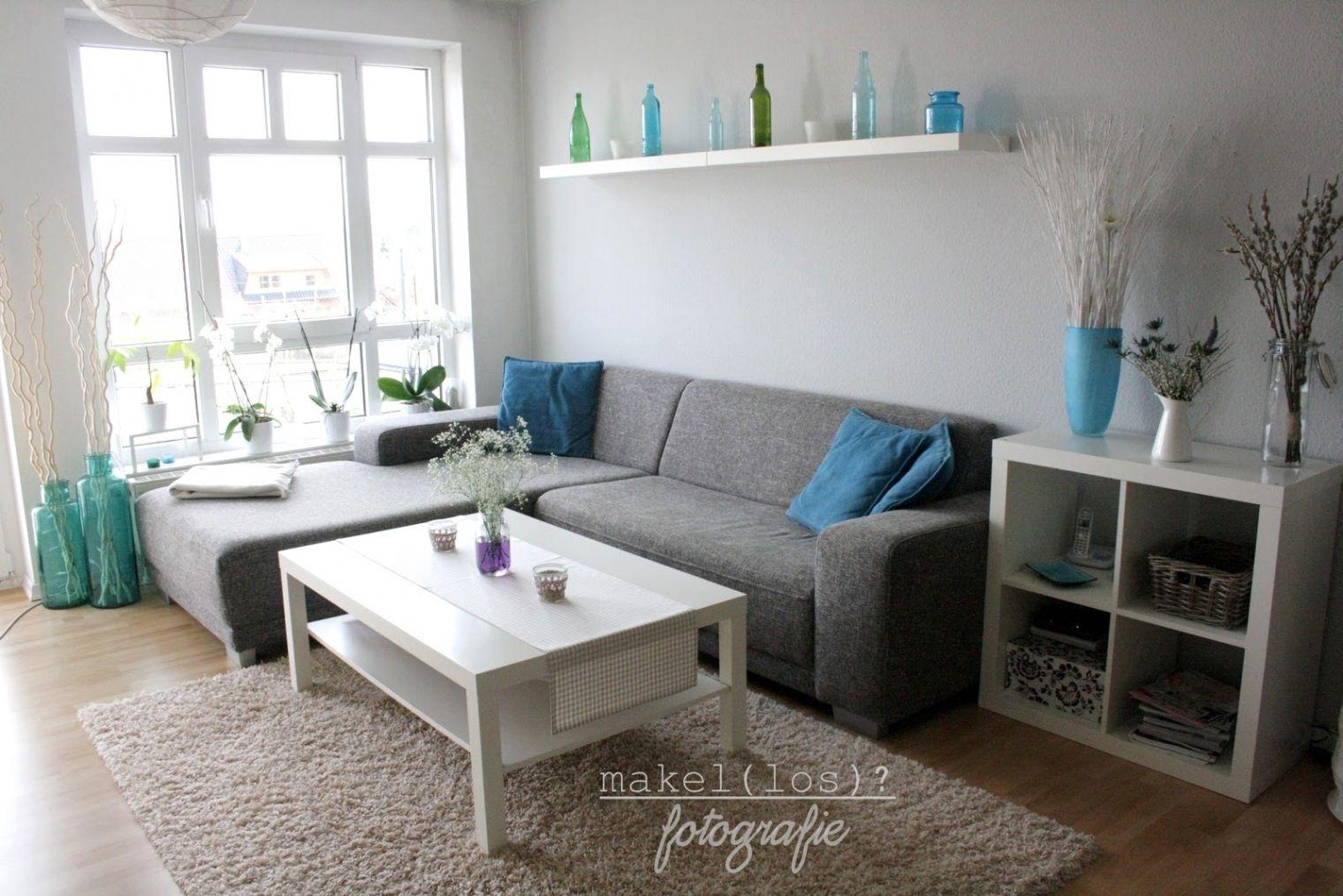Erstaunlich Wohnzimmer Ideen Türkis  Wohnzimmer grau, Dekoration
