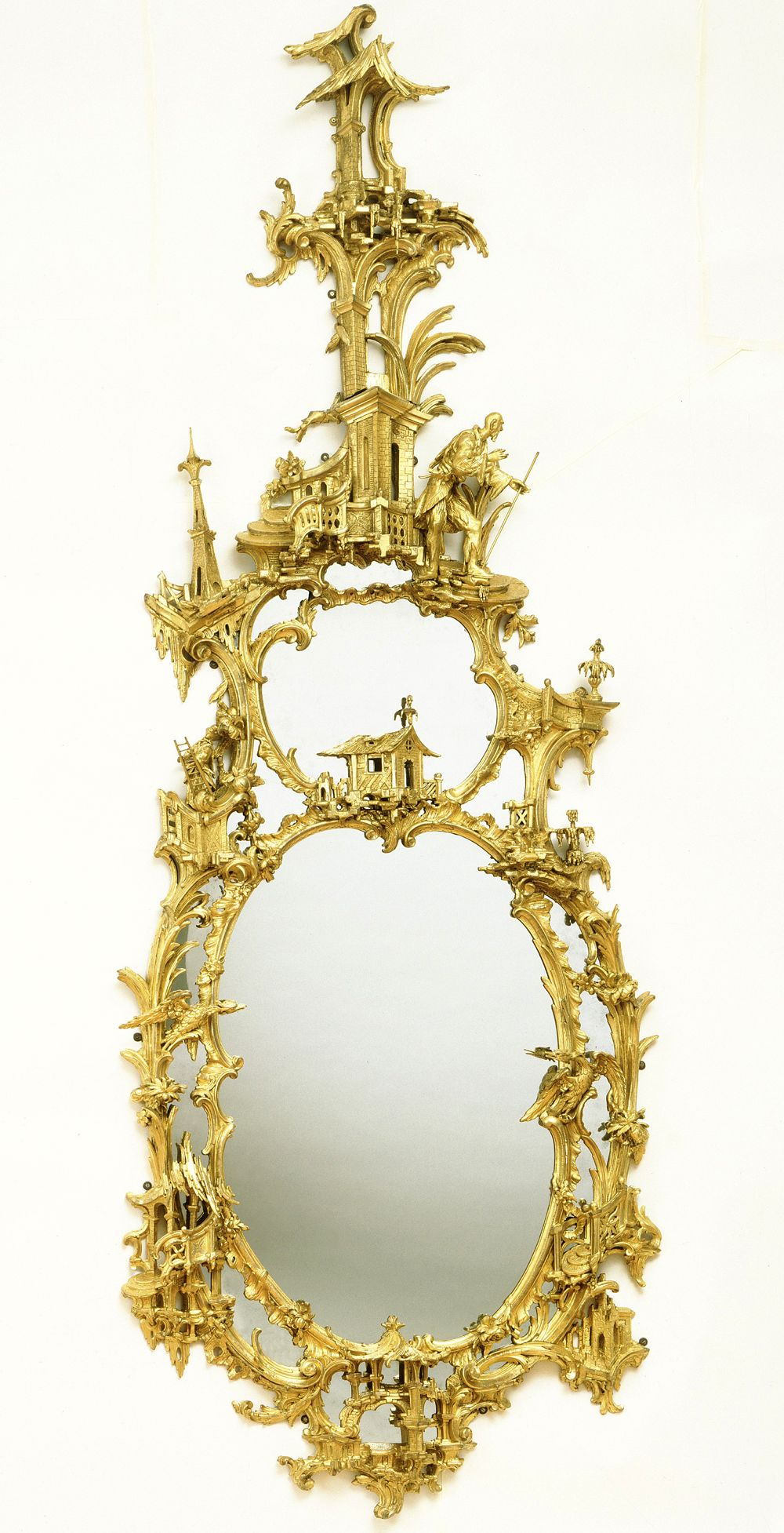 Chinoiserie mirror; Carved and gilded, c. 1750-60, Thomas Johnson. via Victoria and Albert Museum