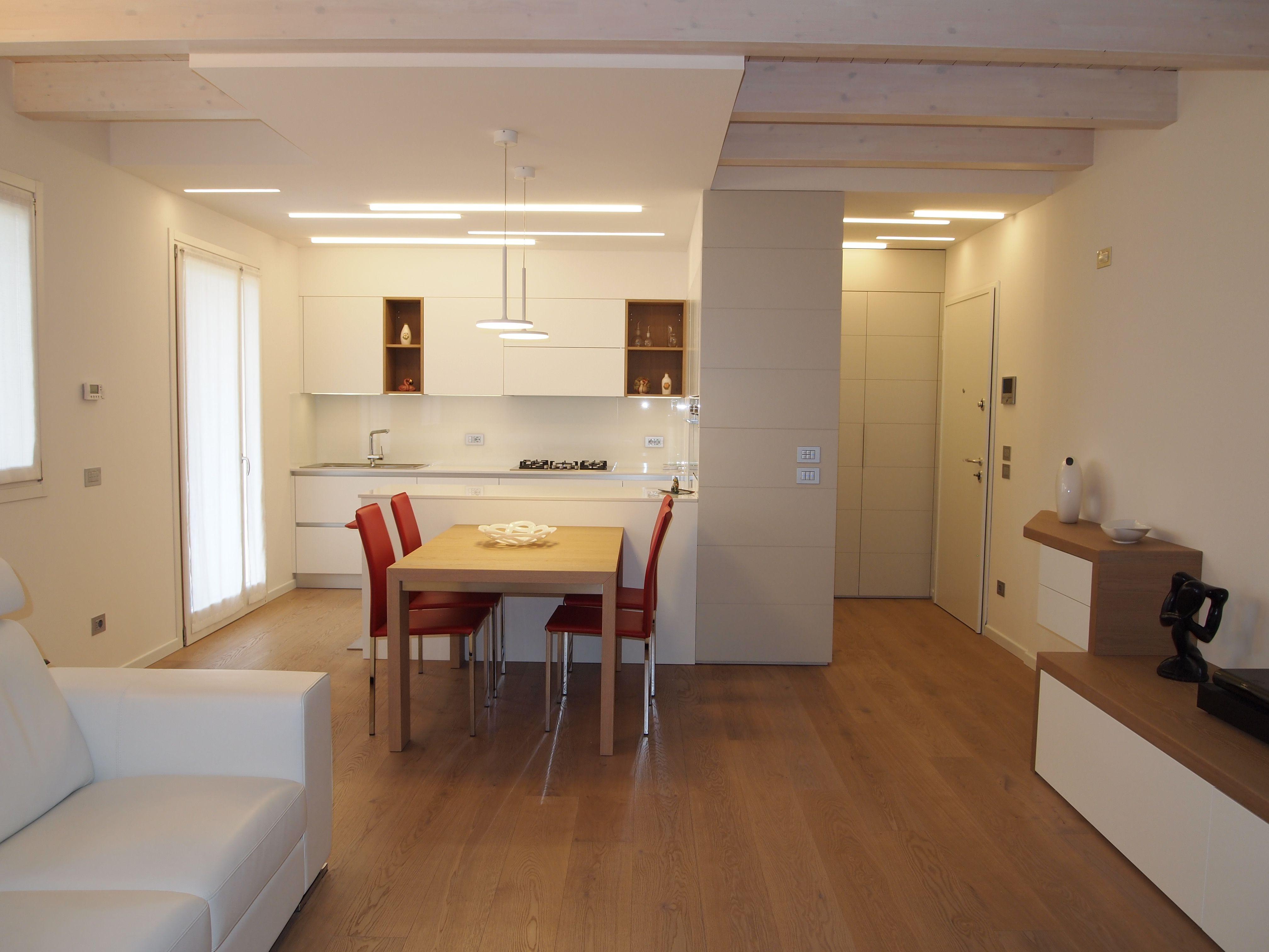 Abitazione privata illuminazione cucina tagli luce led
