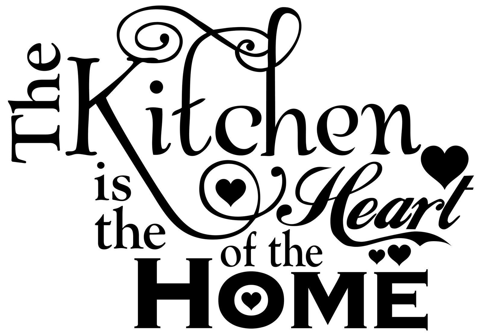 wall vinyl modern home decor sticker decal kitchen is the heart of the home kitchen quotes on kitchen decor quotes wall decals id=30609
