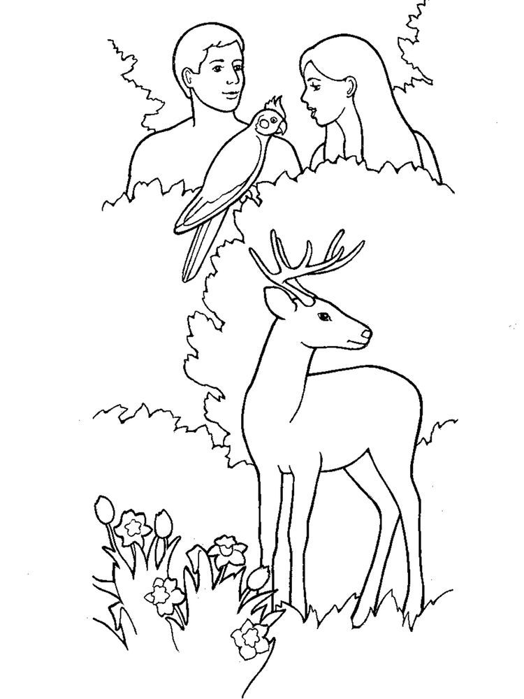 Adam And Eve Bible Story Coloring Pages Free Adam And Eve Were The First Humans Created By God They Initially Adam And Eve Adam And Eve Bible Coloring Pages