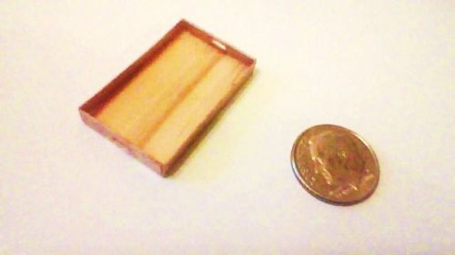 Handcrafted Miniatures Dollhouse Accessories Real Wood Serving Tray American Mad | eBay