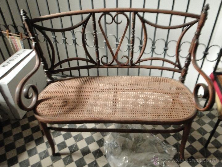 Antiguo sof de rejilla estilo thonet 192 sillas asientos chaises si ges - Reformar piso antiguo ...