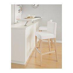 Ikea Henriksdal Tabouret De Bar A Dossier 74 Cm Assise