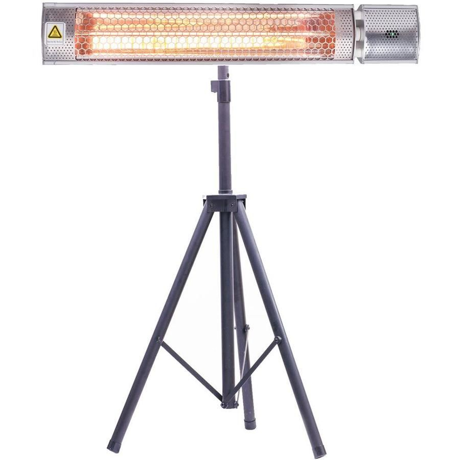 Hanover 5118 Btu 120 Volt Silver Stainless Steel Electric Patio Heater Lowes Com In 2020 Patio Heater Heater Heat Lamps