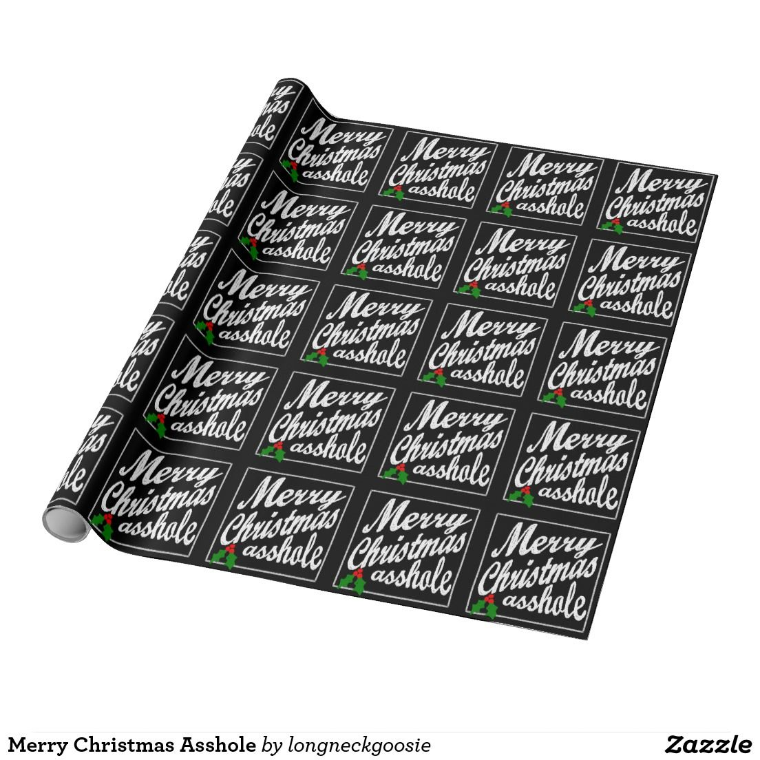 Merry Christmas Asshole Wrapping Paper #BlueChristmas #Christmas ...
