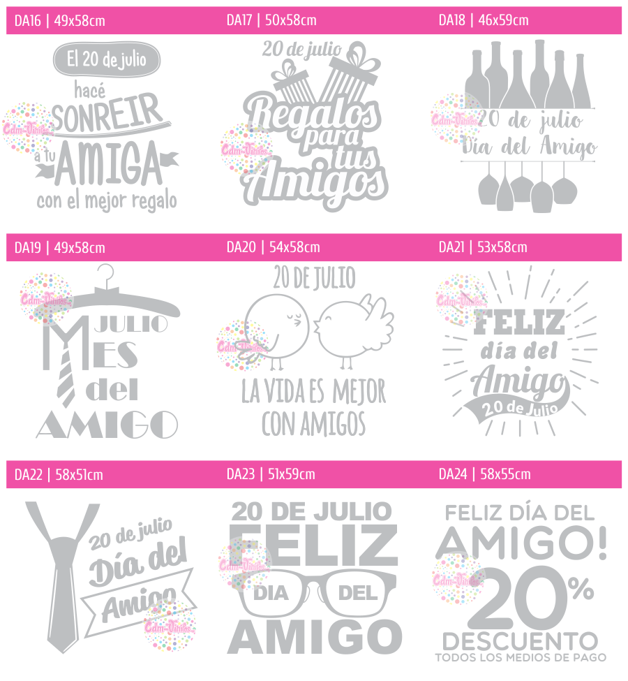 Vinilo d a del amigo vidrieras vinilos decorativos para for Sticker decorativos para ninos