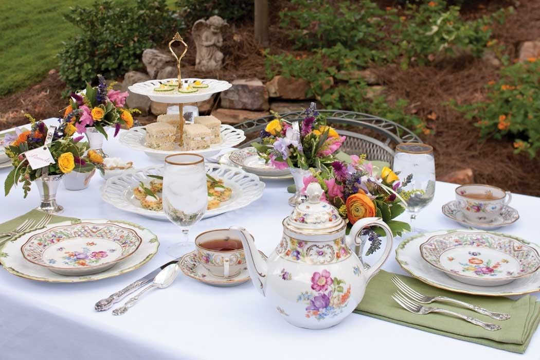 Celebrating Spring Tablescapes Teatime Magazine Outdoor Tea Parties Tea Sandwiches Tea Time