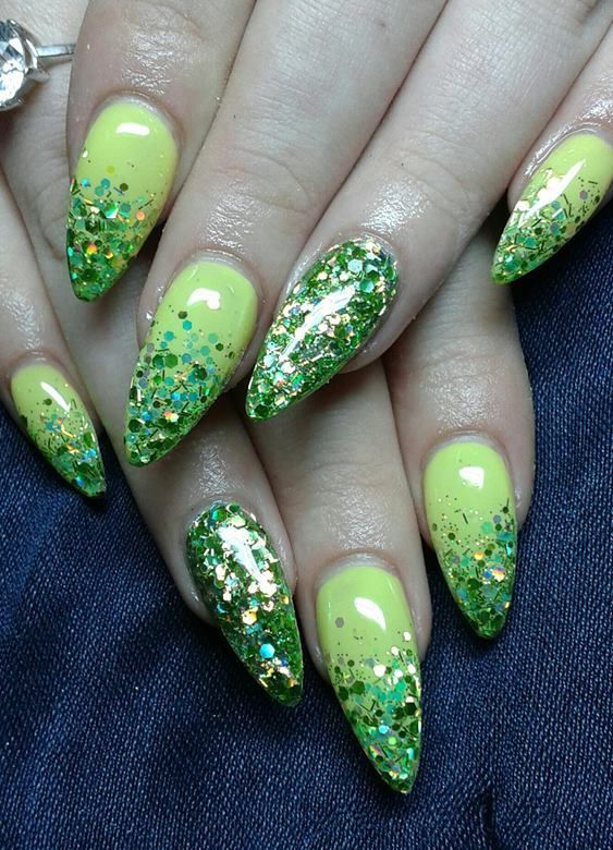 almond nail art design - Google Search | nails | Pinterest