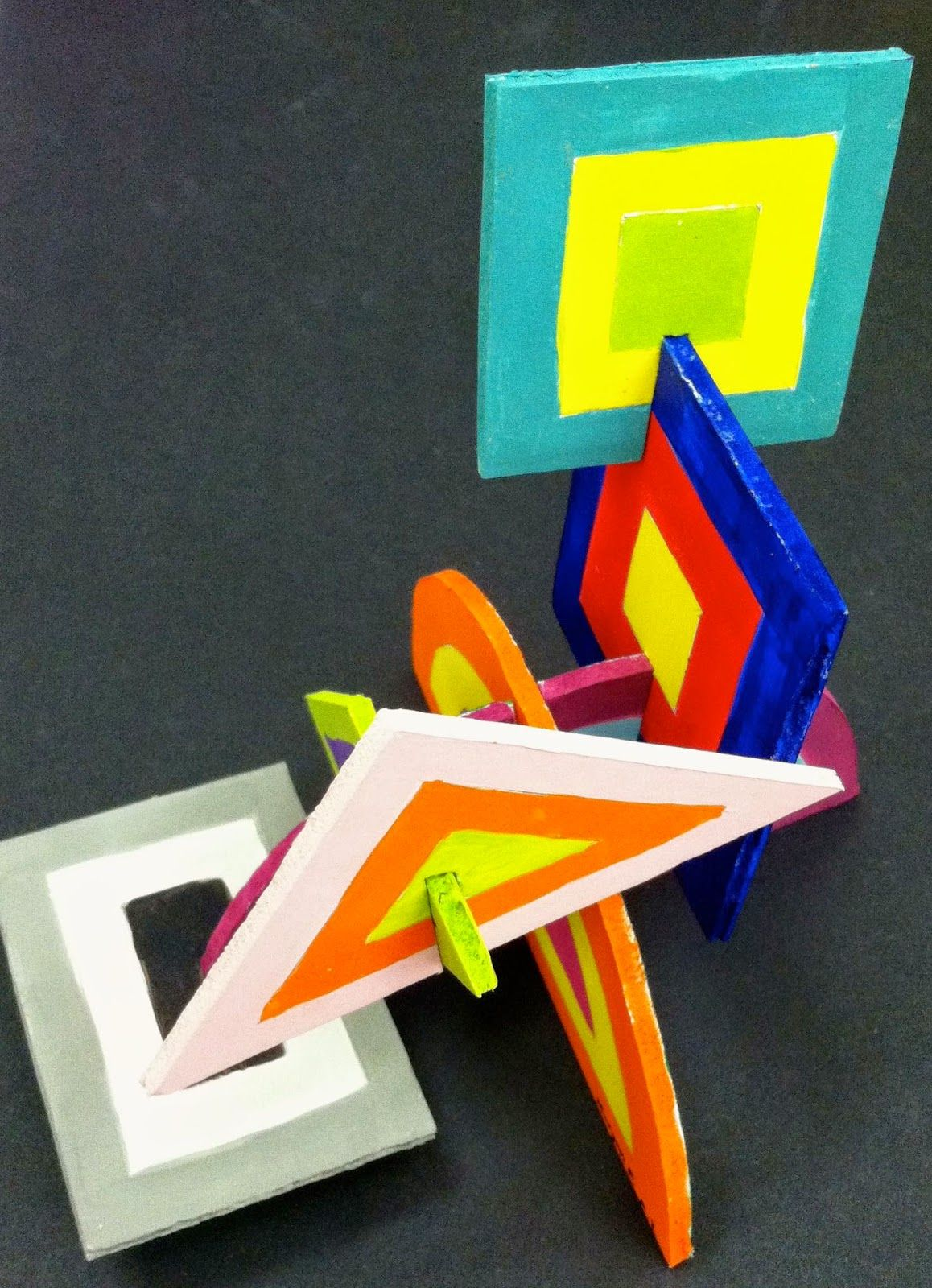Kids Art Market Slotted Color Sculptures With Josef Albers Highschool