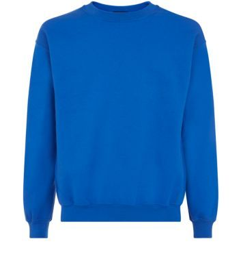 Bright Blue Plain Crew Neck Sweater | SQUIRTLE SQUAD PHOTOSHOOT ...