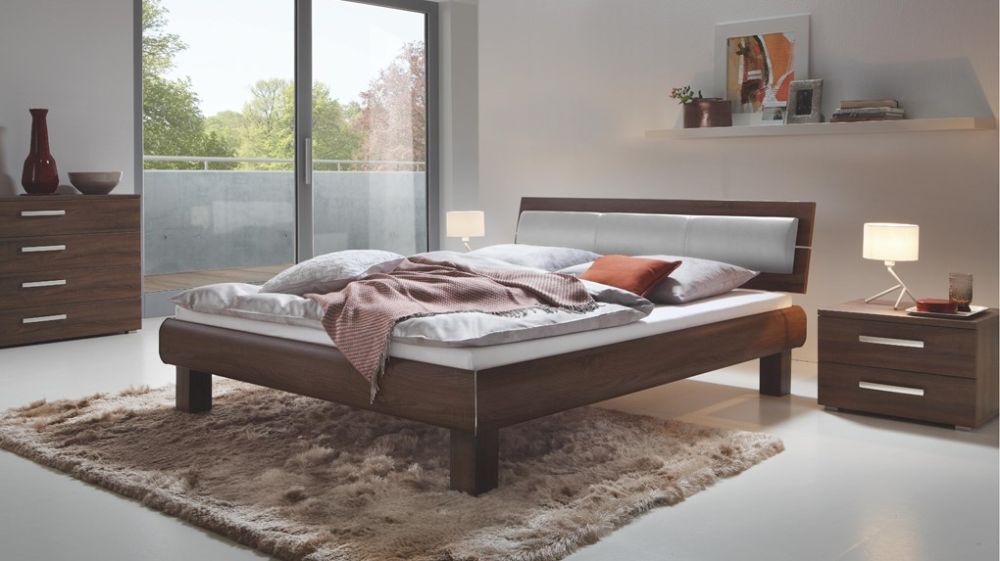 Hasena Ivio Nuetta Lumo Real Leather Modern Bed