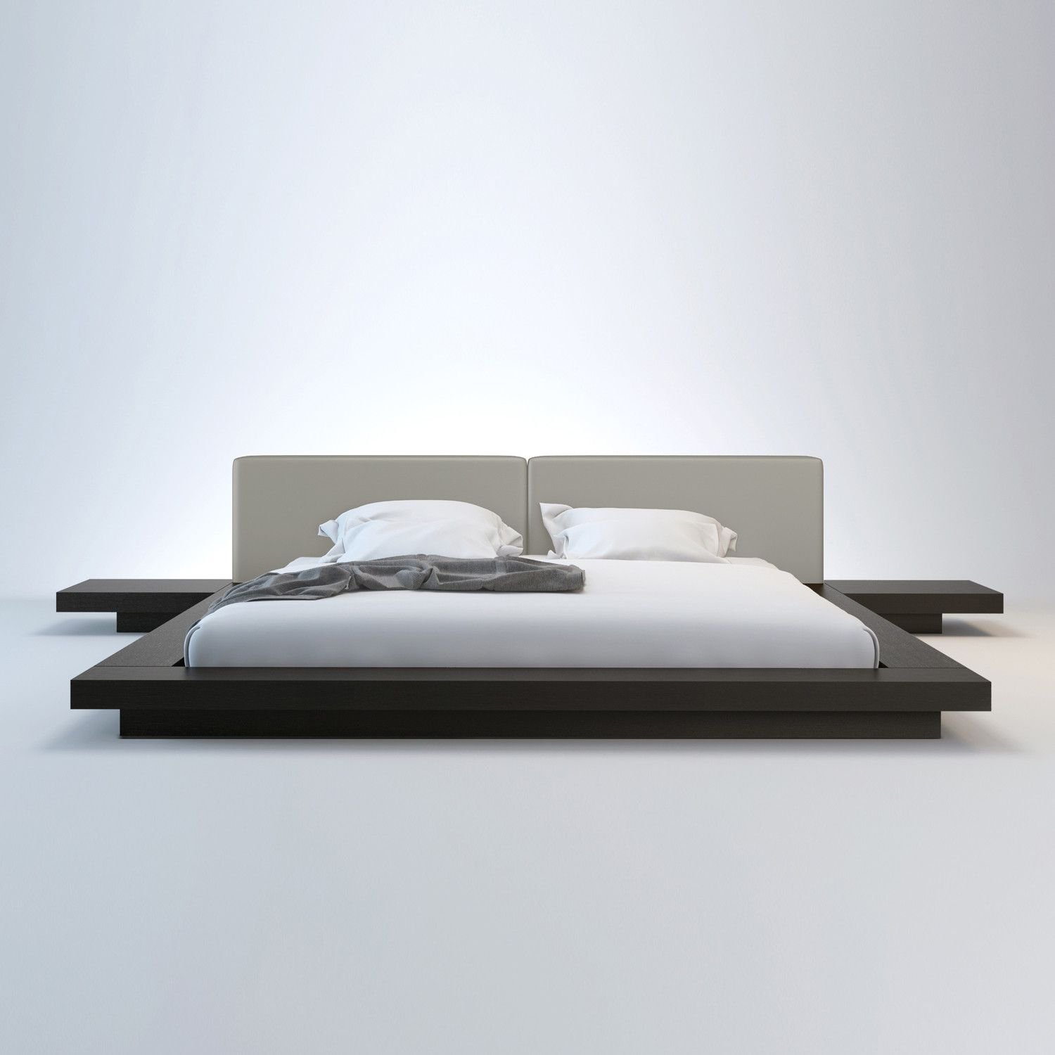 Worth Bed W Matching Nightstands Modern Platform Bed Japanese