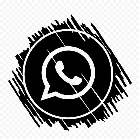 Hd Black Scribble Art Outline Whatsapp Wa Icon Png Scribble Art App Icon Icon