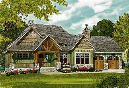 Plan 17650lv rugged craftsman home for a sloping lot for Half basement house plans