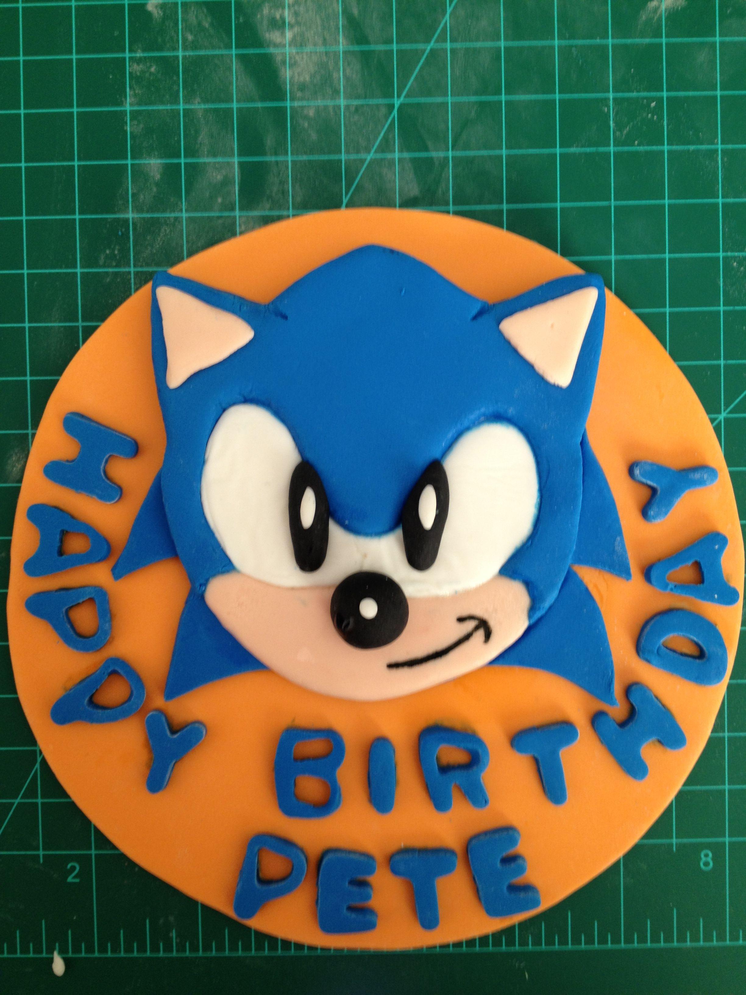 Sonic The Hedgehog Cake Topper Sonic The Hedgehog Cake Hedgehog