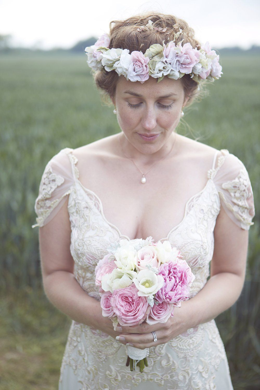 a blessing ceremony wedding in west sussex with a bride in claire