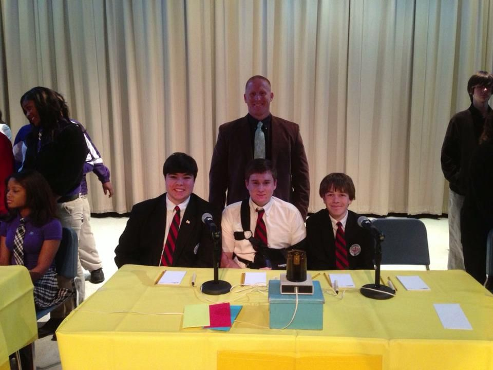 One of the teams competing at Hi-Q Academic Competition at Blount High School in Mobile, Alabama