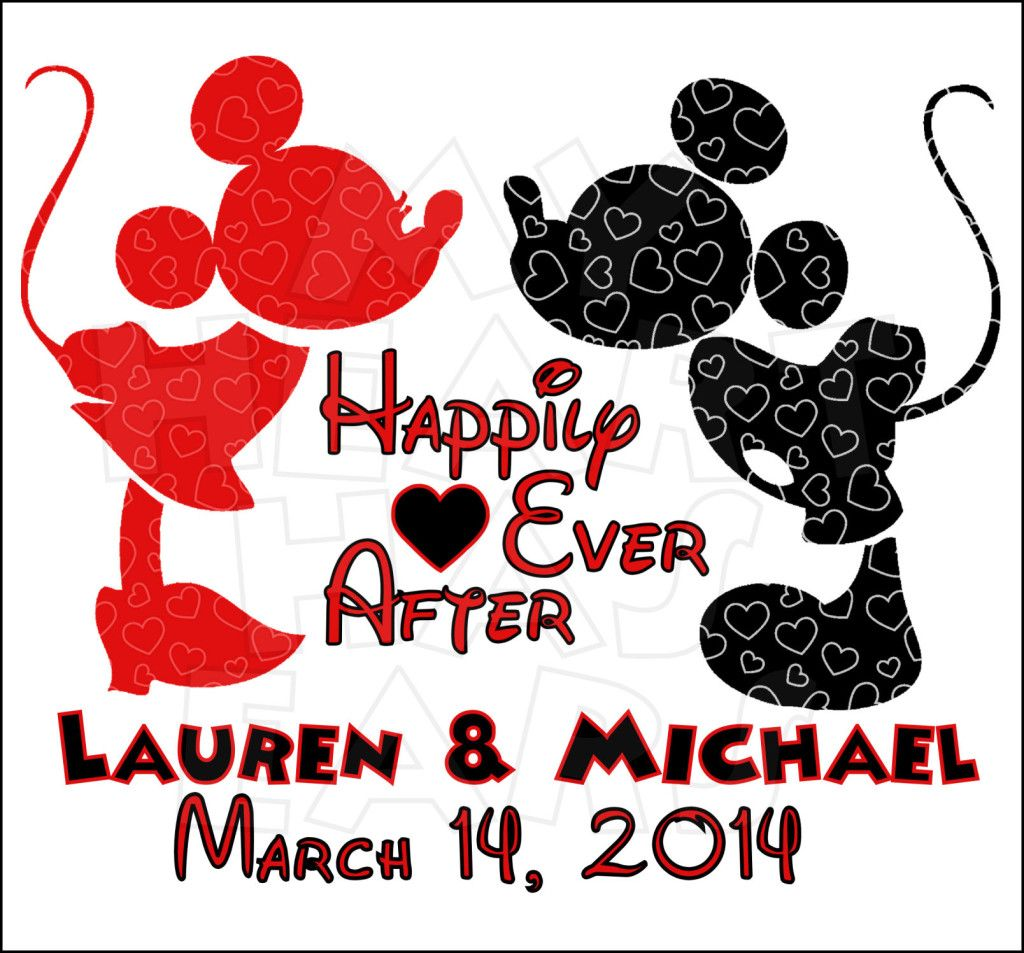 Mickey and minnie happily ever after custom name for Disney happily ever after shirt