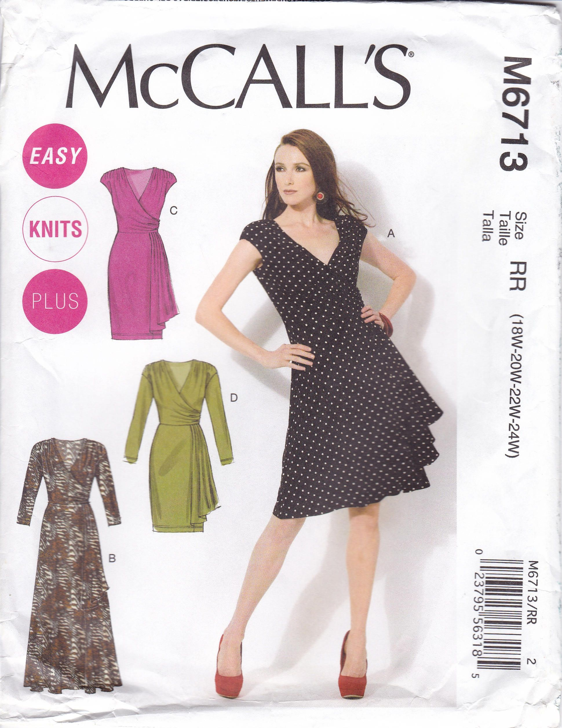 Free Us Ship Mccall S 6713 Dress Maxi Day Evening Easy Knits Sash Shoulder Pads Out Of Print Sewing Dresses Mccalls Sewing Patterns Wrap Dress Sewing Patterns [ 2512 x 1940 Pixel ]
