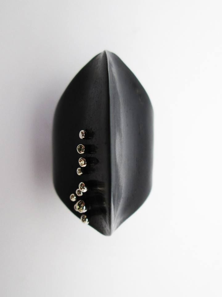 www.facebook.com/EssenzeGioielli Ebony and silver ring