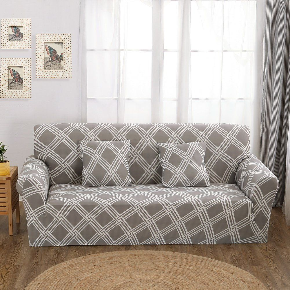 FORCHEER Knit Elastic Sofa Slipcover Sofa Cover Form Fit