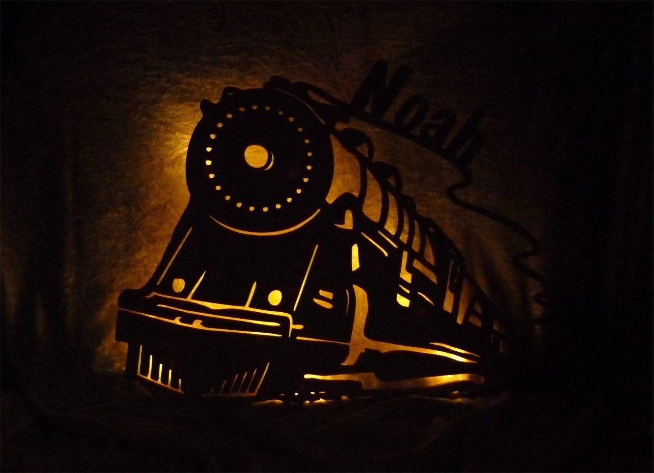 nachtlicht miniatur eisenbahn zug mit name nach wunsch. Black Bedroom Furniture Sets. Home Design Ideas