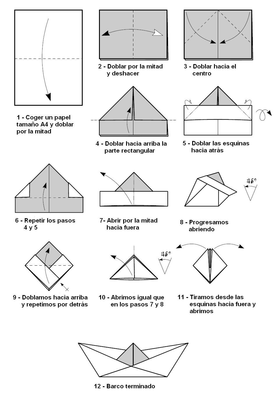 Papirofléxia: Barquito de papel   Manualidades para niños ...