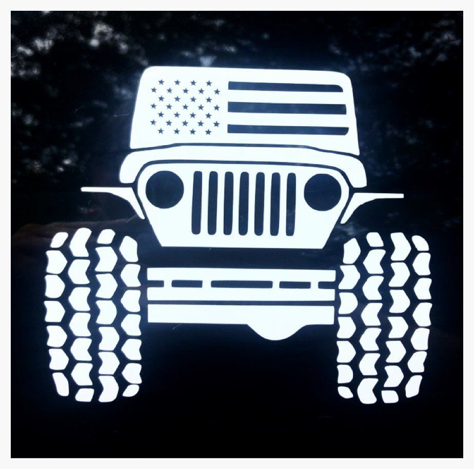 Jeep Decal Wrangler Decal Jeep American Flag Decal Jeep Life Sticker Grunt Style Jeep Wrangler Decal Jeep Wi Colorful Pictures Custom Artwork Vinyl Colors