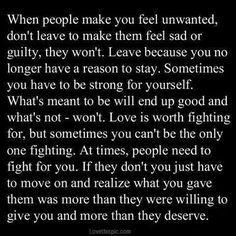 when people make you feel unwanted