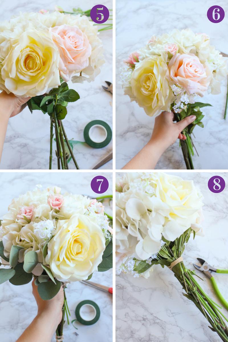 How To Make A Silk Flower Bridal Bouquet Silk Flower Bouquets
