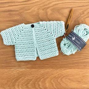 Gratis haakpatroon kleurrijk babyvestje - free crochet pattern colourfull baby cardigan #breienenhaken