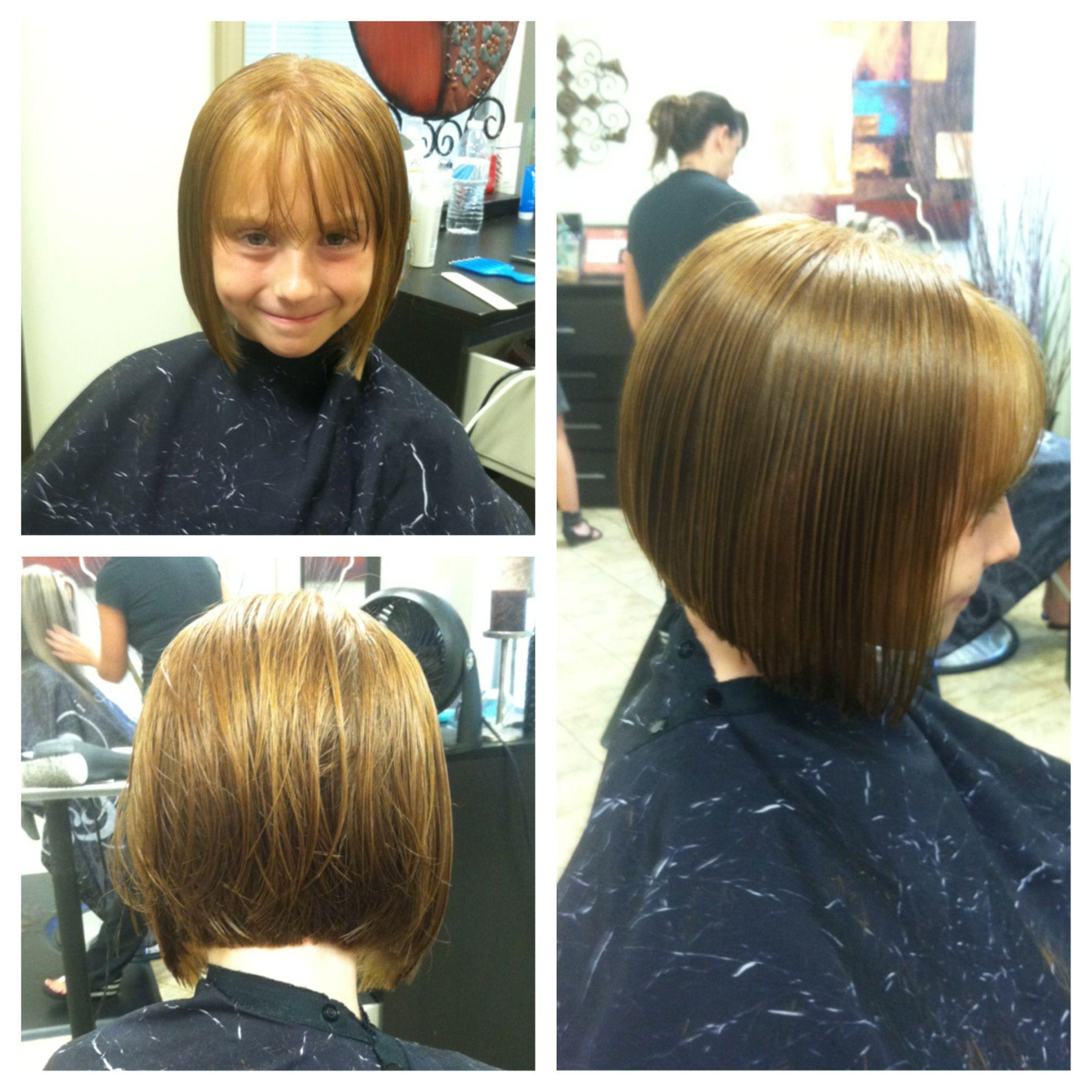 Kids Summer Haircut, cute bob! Short hair, don't care! My ...