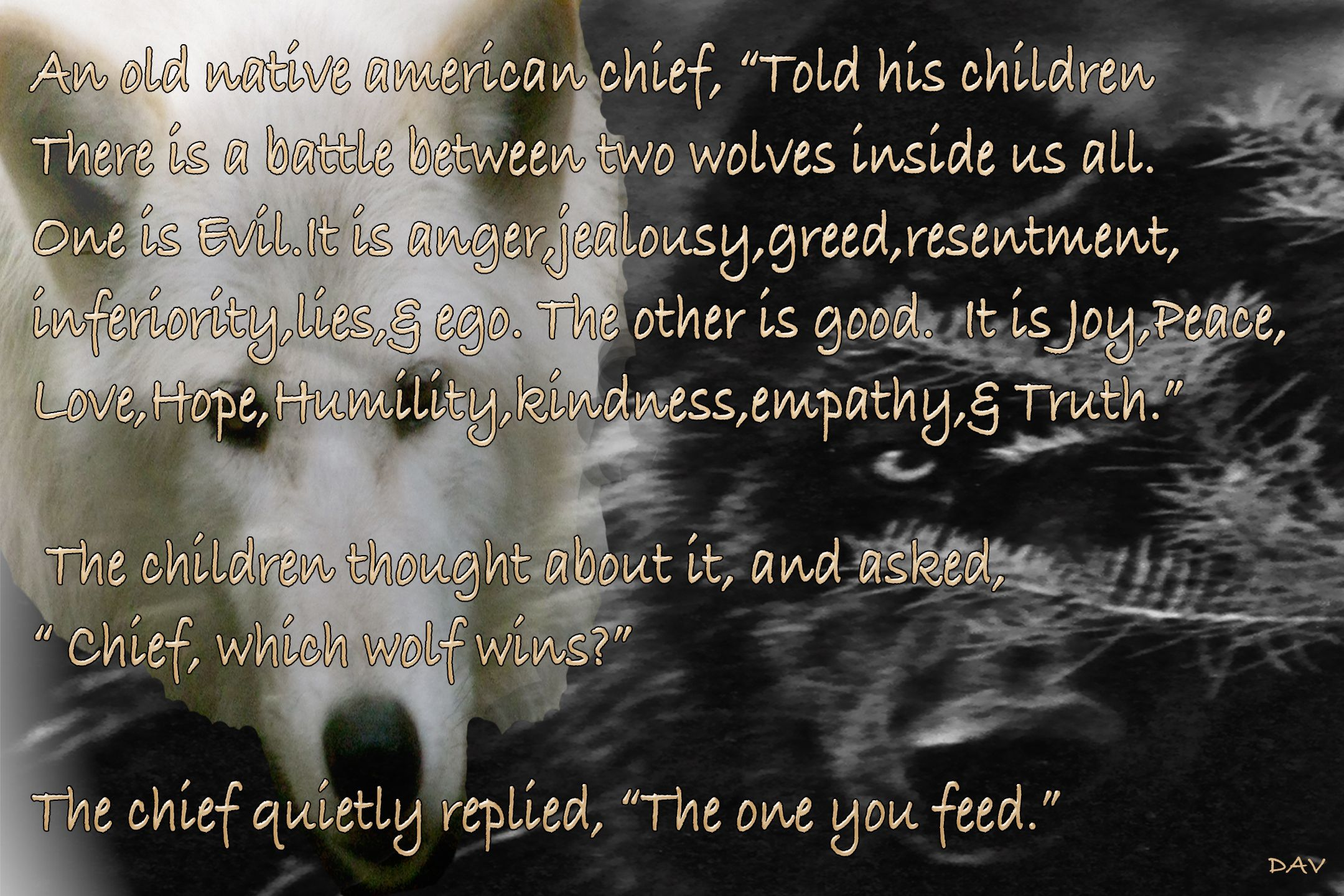WOLVES OF LIFE > NATIVE AMERICAN WORDS