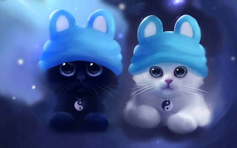 Facebook Cat Artwork Cute Animal Drawings Cat Wallpaper