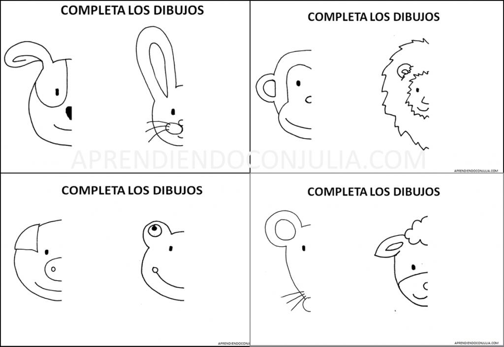 Imprimible Para Ninos Dibujar Animales Y Trabajar La Simetria Aprendiendo Con Julia Dibujos De Animales Figuras Para Colorear Aprender A Dibujar Animales