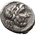 Roman Republic WAR vs HANNIBAL 2nd PUNIC WAR 211BC Ancient Silver Coin i55465