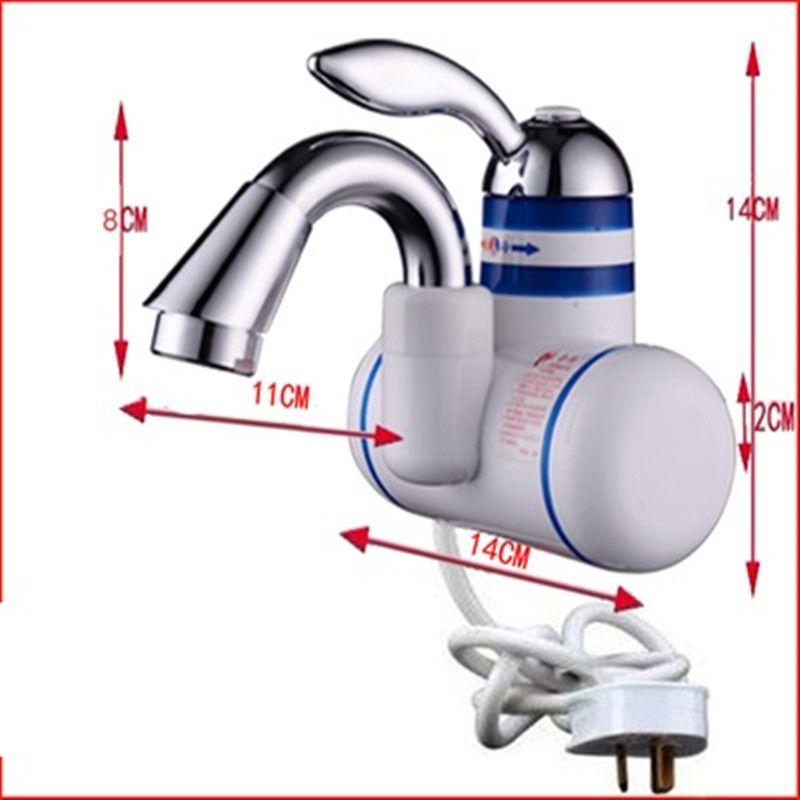 w818-10, 3000 w instantanée robinet d'eau chaude, Électrique ... - Robinet Eau Bouillante Instantanee